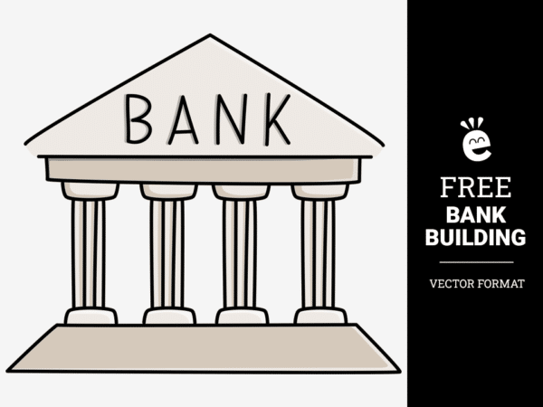 Simple Bank Building - Free Vector Graphic