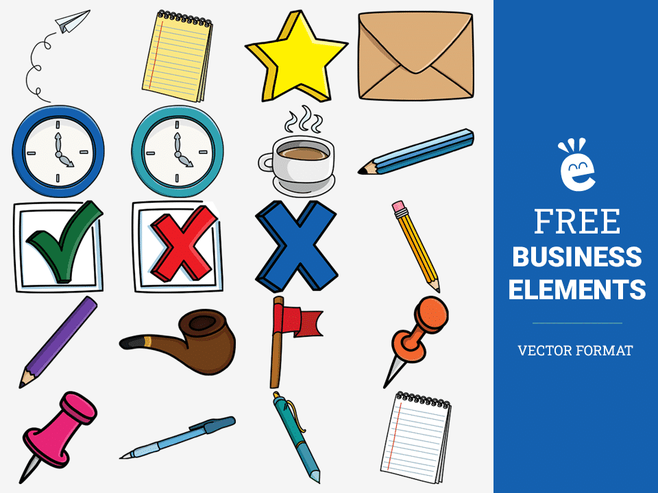 Basic Business Elements - Free Vector Graphics