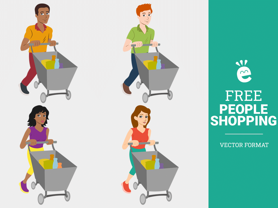 People Shopping - Free Vector Graphics