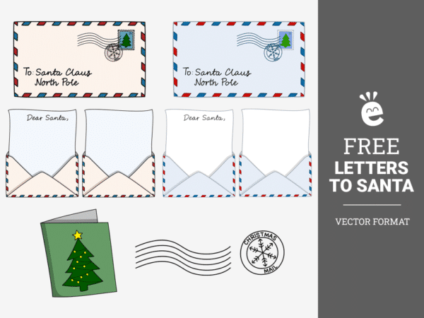 Letters To Santa Claus - Free Vector Graphics