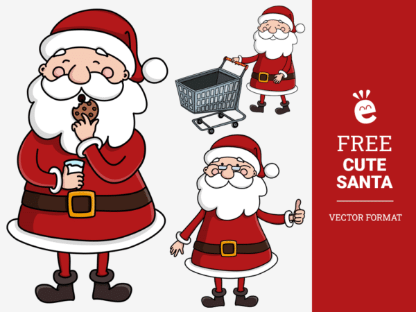 Adorable Santa Claus - Free Vector Graphics