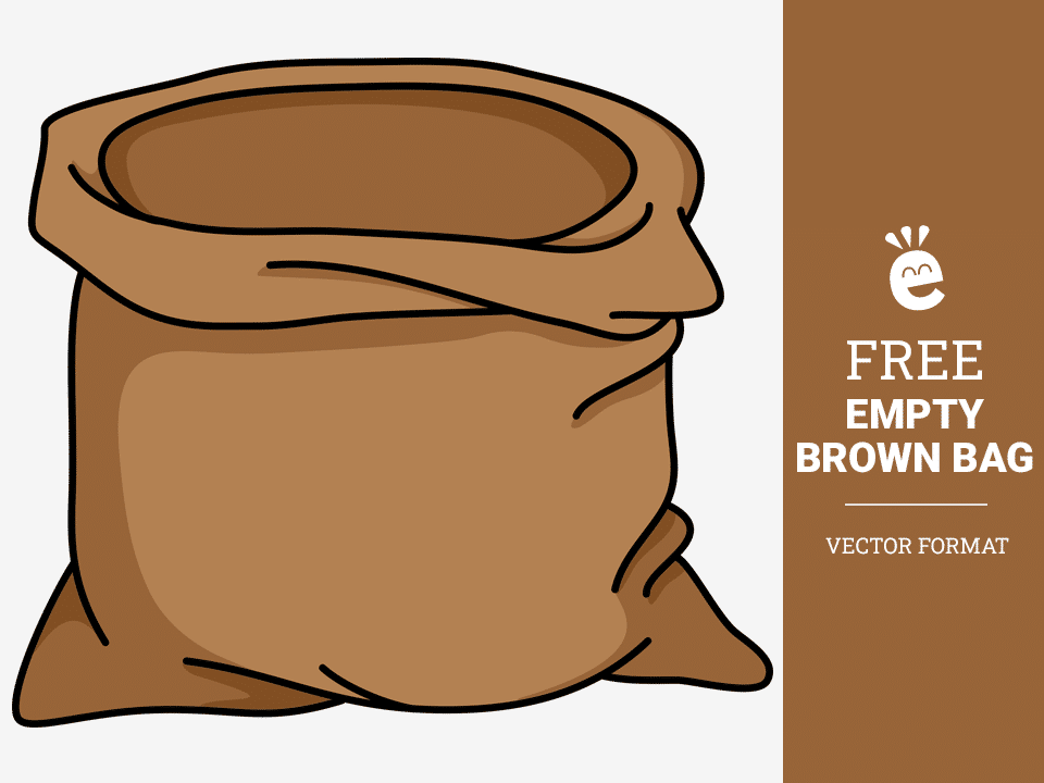 Empty Brown Bag - Free Vector Graphic