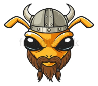 Bee viking. PNG - JPG and vector EPS file formats (infinitely scalable). Image isolated on transparent background.