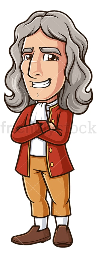 Cartoon isaac newton. PNG - JPG and vector EPS (infinitely scalable).