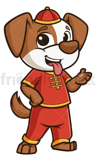 Chinese happy new year dog. PNG - JPG and vector EPS (infinitely scalable).
