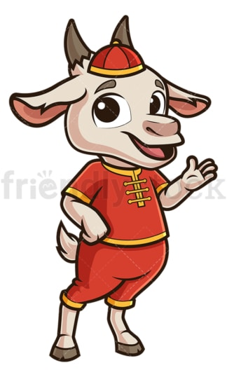 Chinese happy new year goat. PNG - JPG and vector EPS (infinitely scalable).