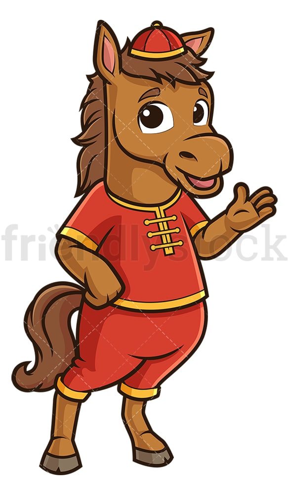 Chinese happy new year horse. PNG - JPG and vector EPS (infinitely scalable).