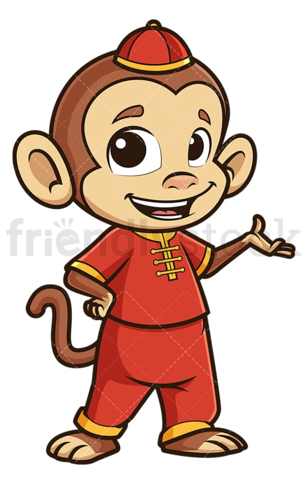 Chinese happy new year monkey. PNG - JPG and vector EPS (infinitely scalable).