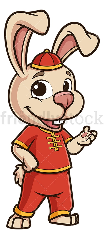 Chinese happy new year rabbit. PNG - JPG and vector EPS (infinitely scalable).