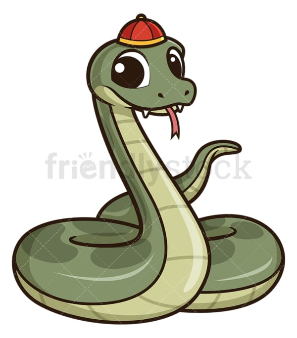 Chinese happy new year snake. PNG - JPG and vector EPS (infinitely scalable).