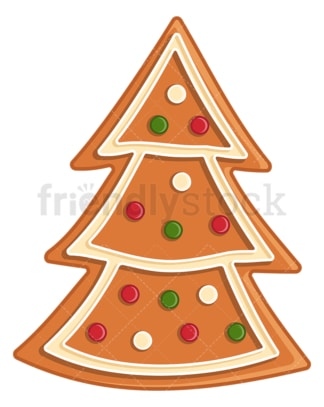Gingerbread christmas tree. PNG - JPG and vector EPS (infinitely scalable).