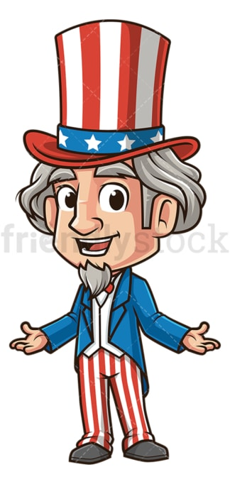 Happy uncle sam. PNG - JPG and vector EPS (infinitely scalable).
