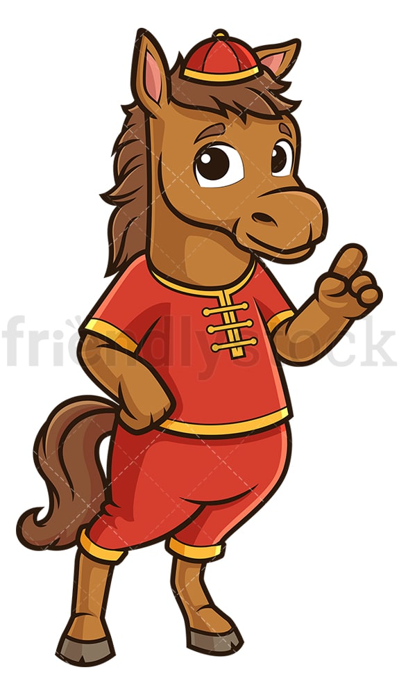 Chinese new year horse pointing up. PNG - JPG and vector EPS (infinitely scalable).