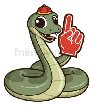 Chinese new year snake pointing up. PNG - JPG and vector EPS (infinitely scalable).