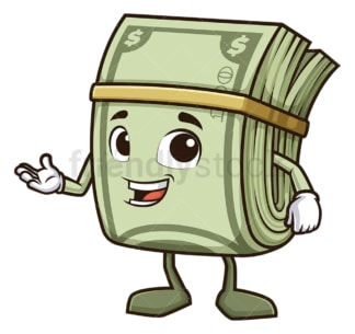 Money mascot explaining. PNG - JPG and vector EPS (infinitely scalable).