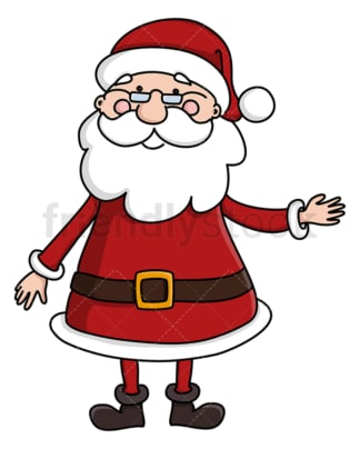 Santa claus pointing sideways. PNG - JPG and vector EPS (infinitely scalable).