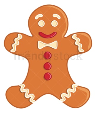 Smiling gingerbread man. PNG - JPG and vector EPS (infinitely scalable).