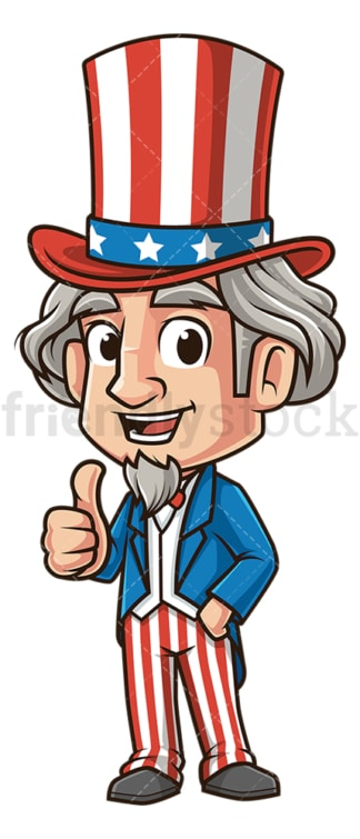 Uncle sam thumbs up. PNG - JPG and vector EPS (infinitely scalable).