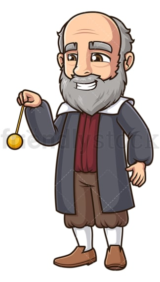 Galileo galilei swinging pendulum. PNG - JPG and vector EPS (infinitely scalable).
