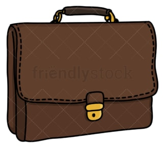 Leather briefcase. PNG - JPG and vector EPS (infinitely scalable).