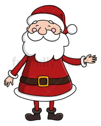 Santa pointing to the side. PNG - JPG and vector EPS (infinitely scalable).