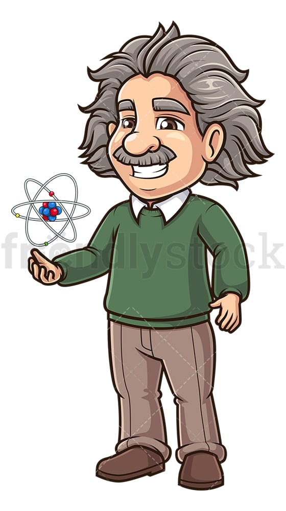 Albert einstein atomic structure. PNG - JPG and vector EPS (infinitely scalable).