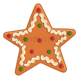 Gingerbread star. PNG - JPG and vector EPS (infinitely scalable).