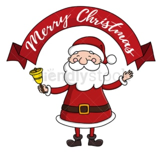 Santa claus merry christmas. PNG - JPG and vector EPS (infinitely scalable).