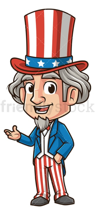 Uncle sam pointing side. PNG - JPG and vector EPS (infinitely scalable).