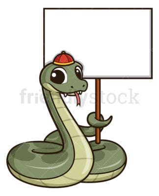 Chinese new year snake with empty sign. PNG - JPG and vector EPS (infinitely scalable).
