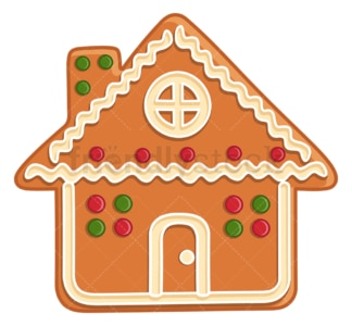 Gingerbread house. PNG - JPG and vector EPS (infinitely scalable).
