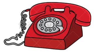 Vintage red telephone. PNG - JPG and vector EPS (infinitely scalable).