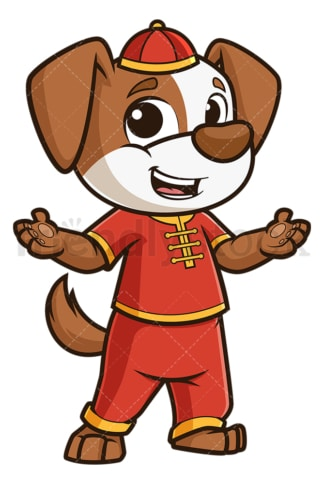 Chinese new year dog presenting. PNG - JPG and vector EPS (infinitely scalable).