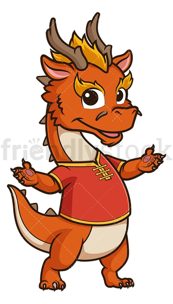 Chinese new year dragon presenting. PNG - JPG and vector EPS (infinitely scalable).