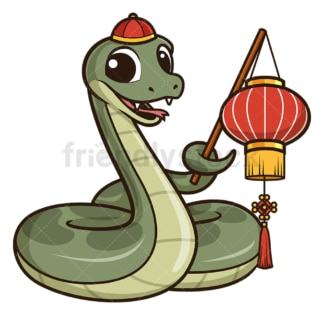 Chinese new year snake presenting. PNG - JPG and vector EPS (infinitely scalable).