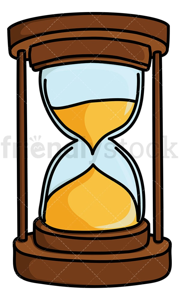 Hourglass with gold sand. PNG - JPG and vector EPS (infinitely scalable).