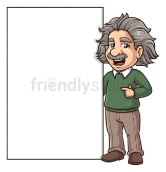 Albert einstein blank sign. PNG - JPG and vector EPS (infinitely scalable).