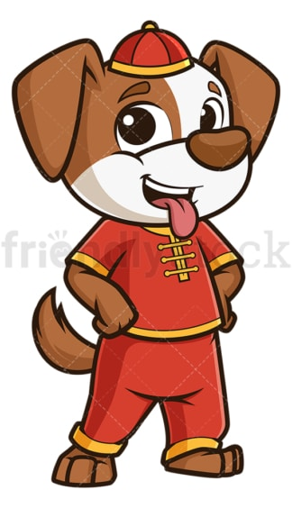 Cute chinese new year dog. PNG - JPG and vector EPS (infinitely scalable).