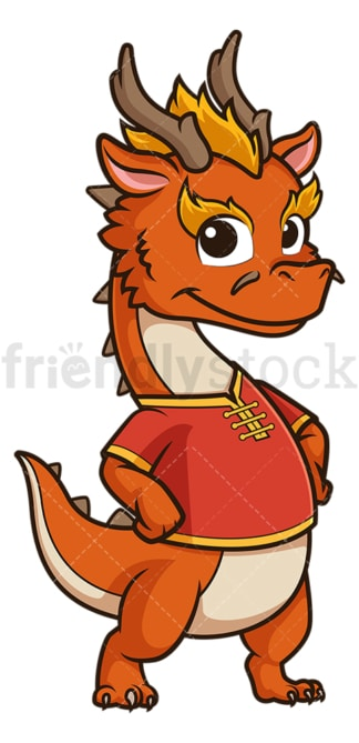Cute chinese new year dragon. PNG - JPG and vector EPS (infinitely scalable).