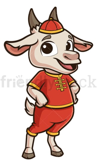 Cute chinese new year goat. PNG - JPG and vector EPS (infinitely scalable).