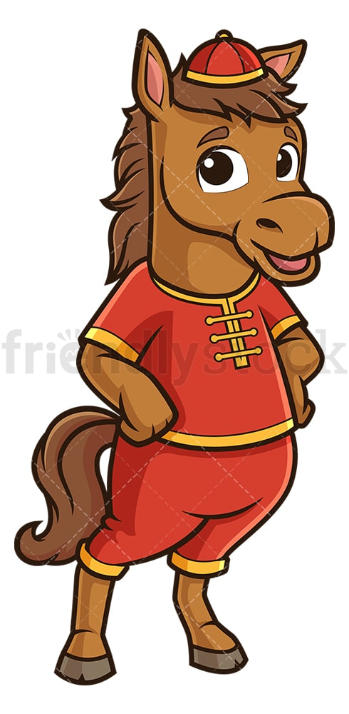 Cute chinese new year horse. PNG - JPG and vector EPS (infinitely scalable).