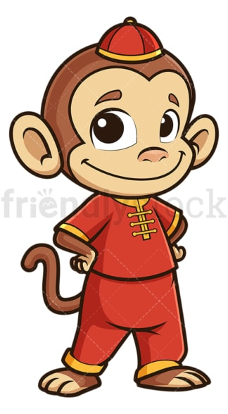 Cute chinese new year monkey. PNG - JPG and vector EPS (infinitely scalable).