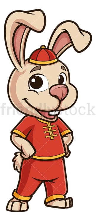 Cute chinese new year rabbit. PNG - JPG and vector EPS (infinitely scalable).