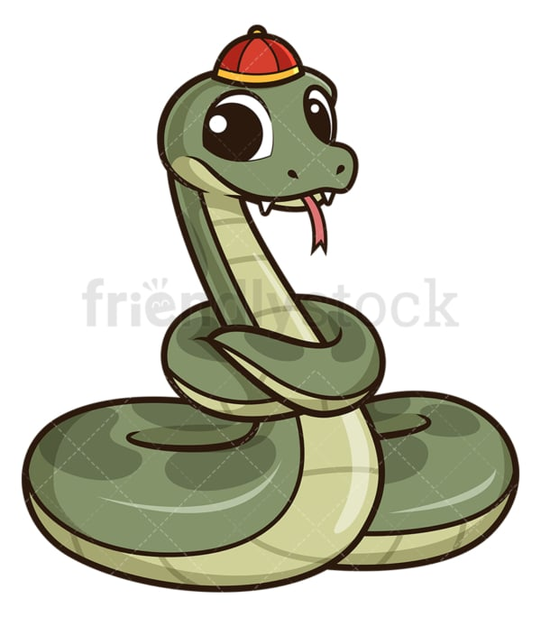 Cute chinese new year snake. PNG - JPG and vector EPS (infinitely scalable).