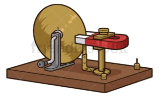 Faraday's disk. PNG - JPG and vector EPS file formats (infinitely scalable). Image isolated on transparent background.