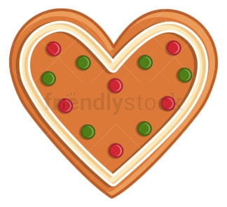 Gingerbread heart. PNG - JPG and vector EPS (infinitely scalable).
