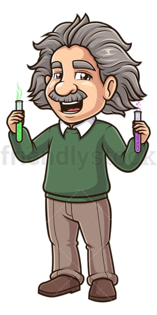 Albert einstein excited. PNG - JPG and vector EPS (infinitely scalable).