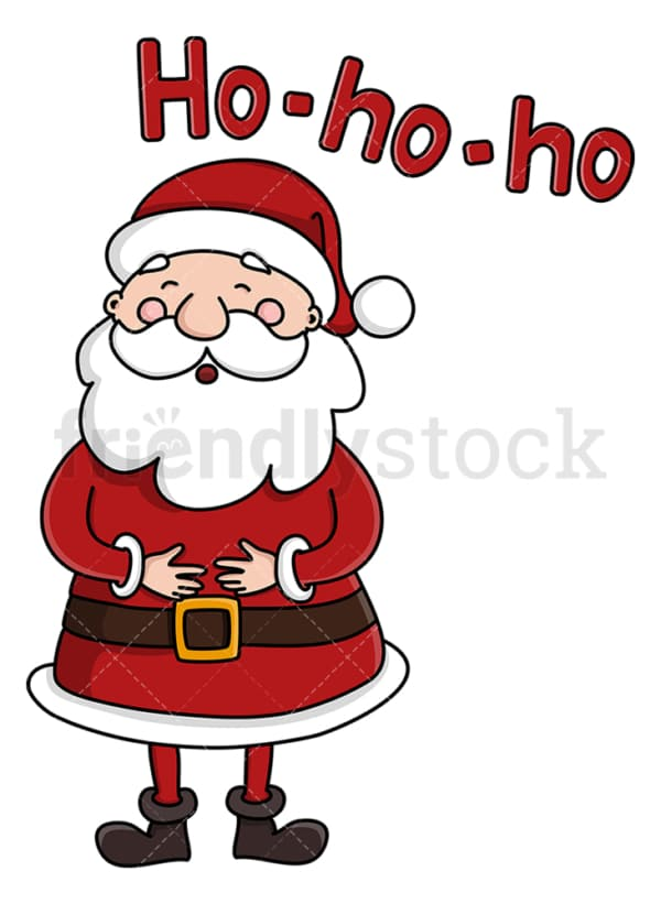 Cute santa claus laughing ho-ho-ho. PNG - JPG and vector EPS (infinitely scalable).