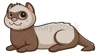 Kawaii ferret. PNG - JPG and vector EPS (infinitely scalable).
