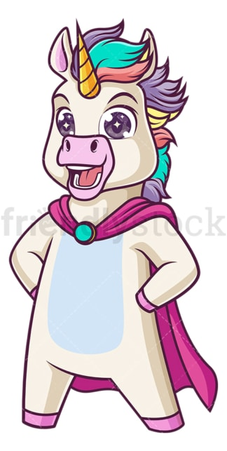 Superhero unicorn. PNG - JPG and vector EPS (infinitely scalable).